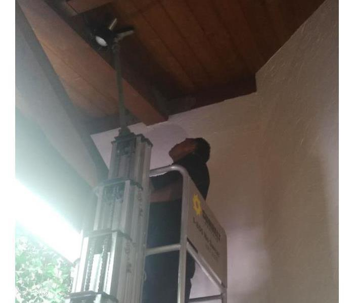 Commercial Rafters cleaning